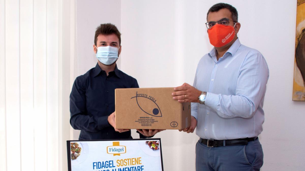Carmelo Dalla e Pietro Maugeri per donazione Fidagel