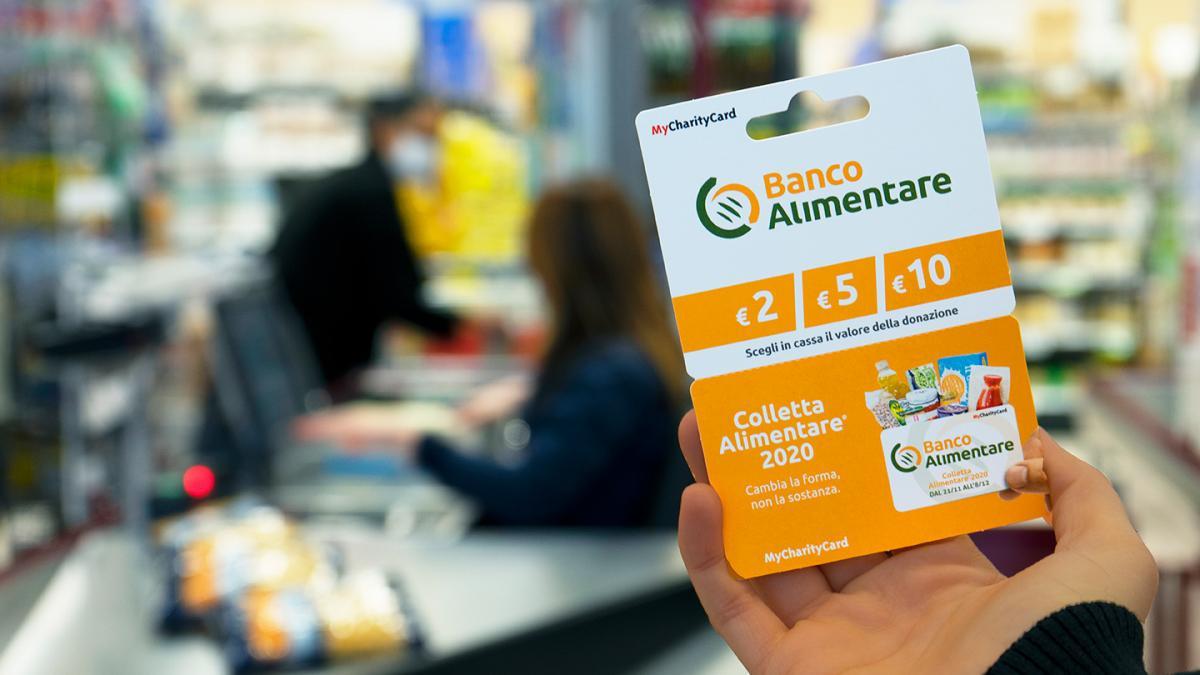 Charity Card di Banco Alimentare al supermercato