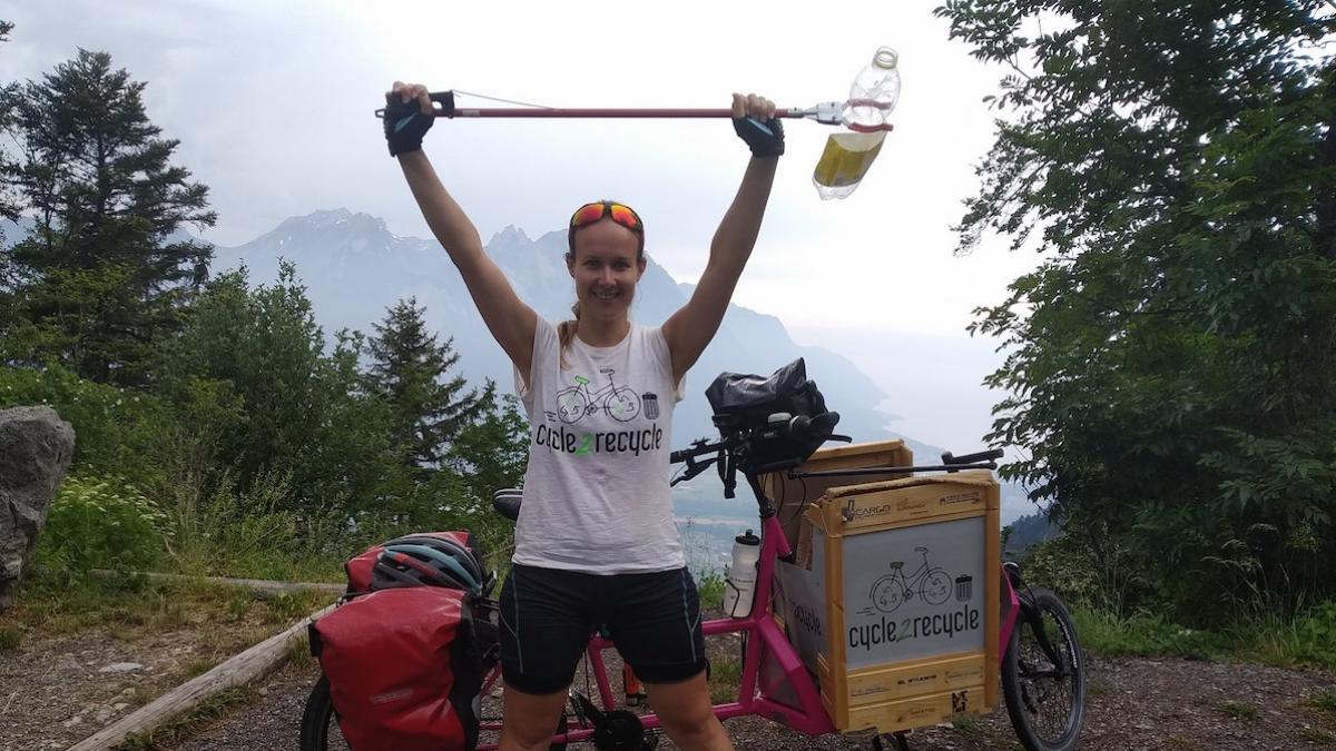 Myra e la sua cargo-bike: km di solidarietà - fotografia Myra