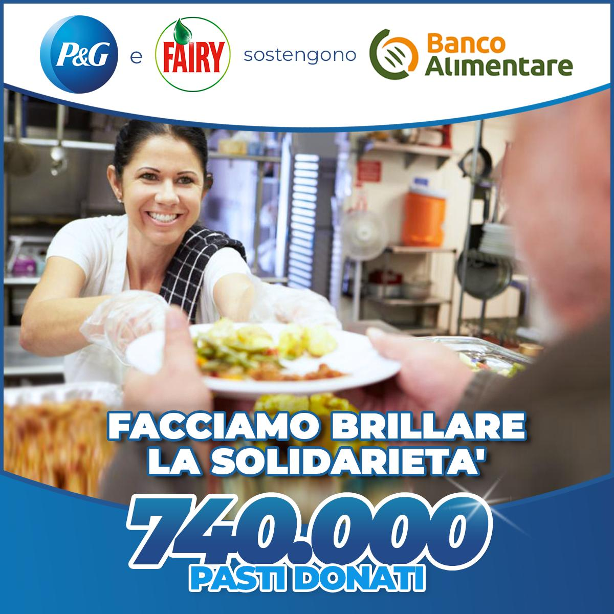 Fairy e P&G donano pasti al Banco Alimentare